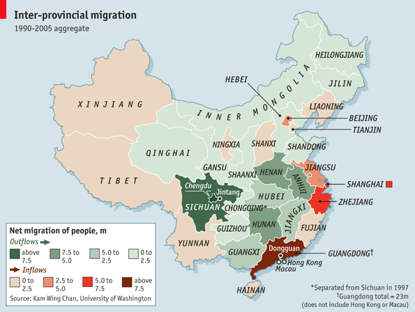 Guangzhou (and Guangdong in general) was already dealing with millions of newcomers | THE ECONOMIST