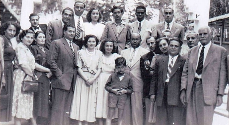 E.J. Sirleaf's grandfather (right), in Lebanon with family and two visiting friends from Liberia. Source: The Africa Report