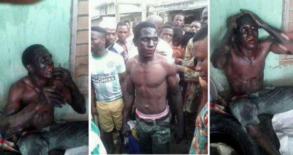 Locals capture a suspected Badoo cultist. | NIGERIAN CURRENT