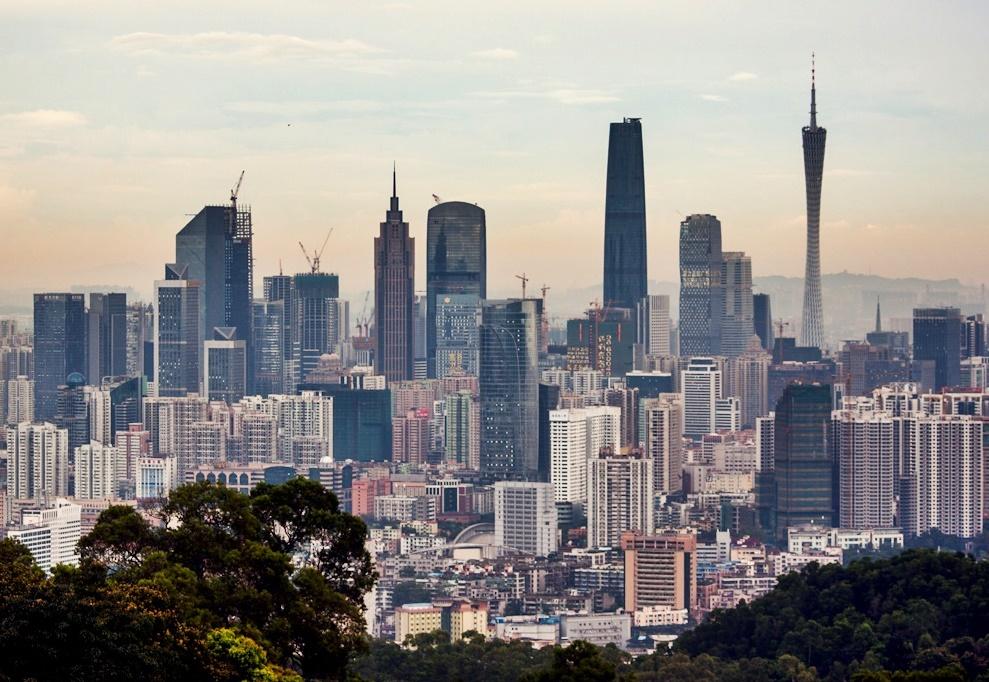 Boom town: Construction cranes dot Guangzhou's skyline |  WIKIMEDIA COMMONS