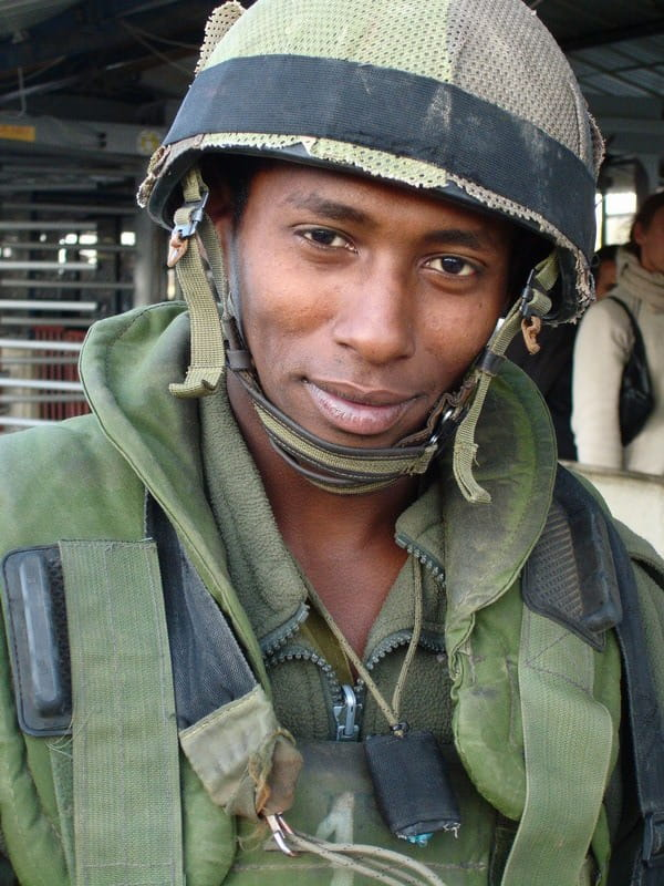 Ethiopian-Israeli soldier around Nablus, April 2006 |  DAVID BICCHETTI