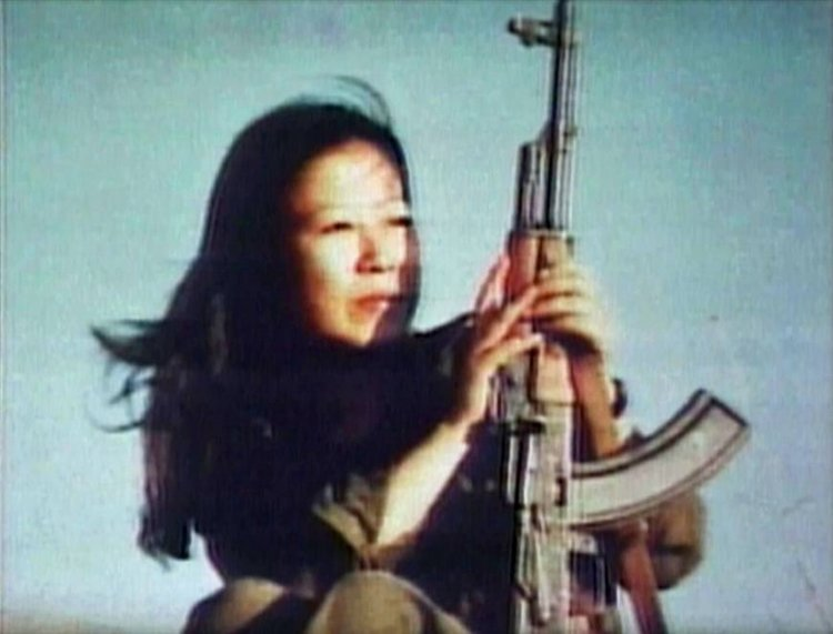 Fusako Shigenobu spent thirty years on the run in the Middle East. |  JAPAN TIMES  via  Children of the Revolution  TRANSMISSION FILMS 2011