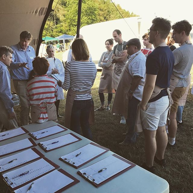 Action shot of Head Judge John Gower briefing our stewards ahead of the BritishCharcuterie Awards. T minus 1 hour until it all kicks off! #BCA2018 @bbccountryfilelive