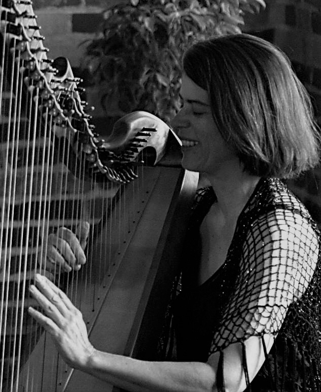 Margot Krimmel (harp) studied folk harp with Sylvia Woods, jazz harp with Deborah Henson-Conant and classical pedal harp with Denver Symphony harpist Helen Hope. Infusing their expertise with her own swing/jazz/blues guitar background, Margot has a fresh, innovative approach to harp. Accolades include first place awards from the Longs Peak Scottish Highland Festival and the Pop and Jazz Harp Festival. She has two solo recordings, Songlines and St. John's Tide, and guest appearances with a diversity of artists including cowboy songster Lon Hannah (#2 on the April 2006 Western Music Album charts), prepared guitar wiz Janet Feder, devotional chant master Robert Gass and the European release The Art Of Harp. Of all Margot's musical pursuits her work on White Birds with Beth Leachman is the apex. Recorded with Jim Ratts at Raven Studio, the project deepened her love of music and friendship with Beth.