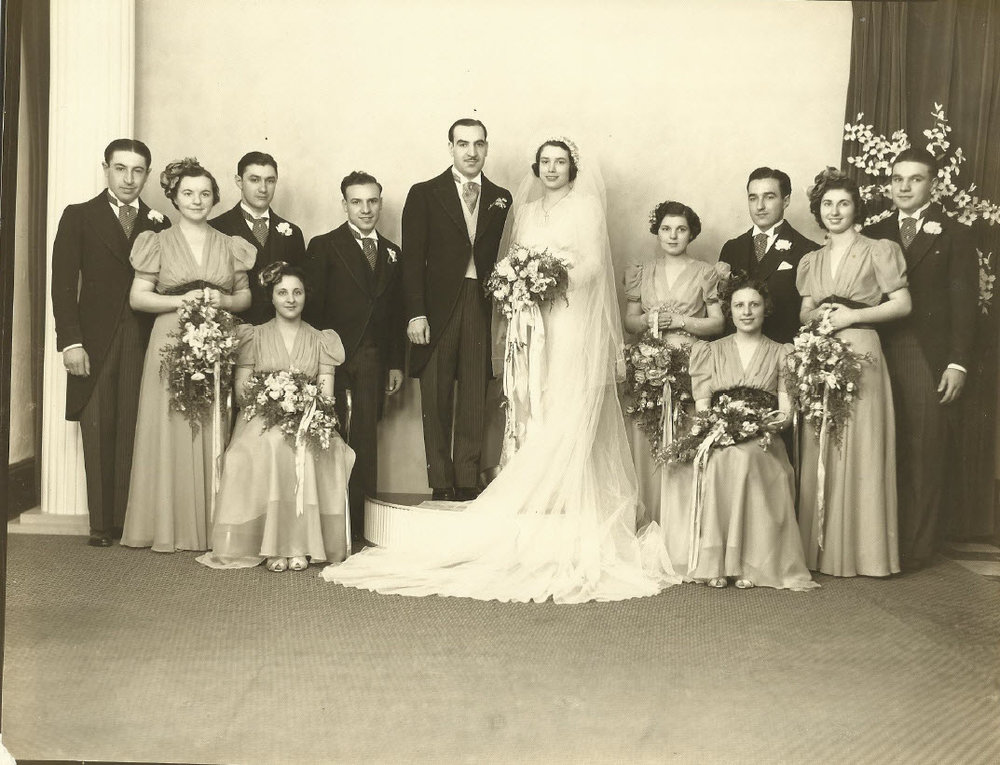 Marriage of Anne Marco to Anthony J. Celebrezze, circa 1938
