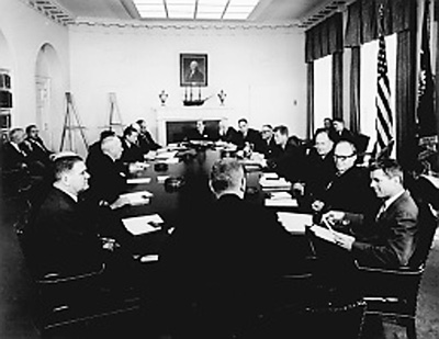 John F. Kennedy cabinet meeting, White House Cabinet Room