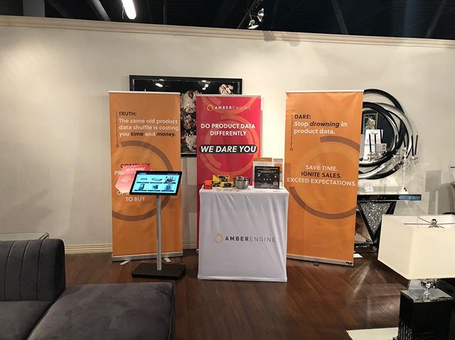 We're all set up in the Coaster Showroom! It's not too late to stop by to learn more about how our product data delivery service is helping Coaster retailers save time and sell more. @coastercompany @lasvegasmarket