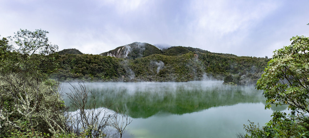 A remote hotspring-fed lake at Kerosin Creek.