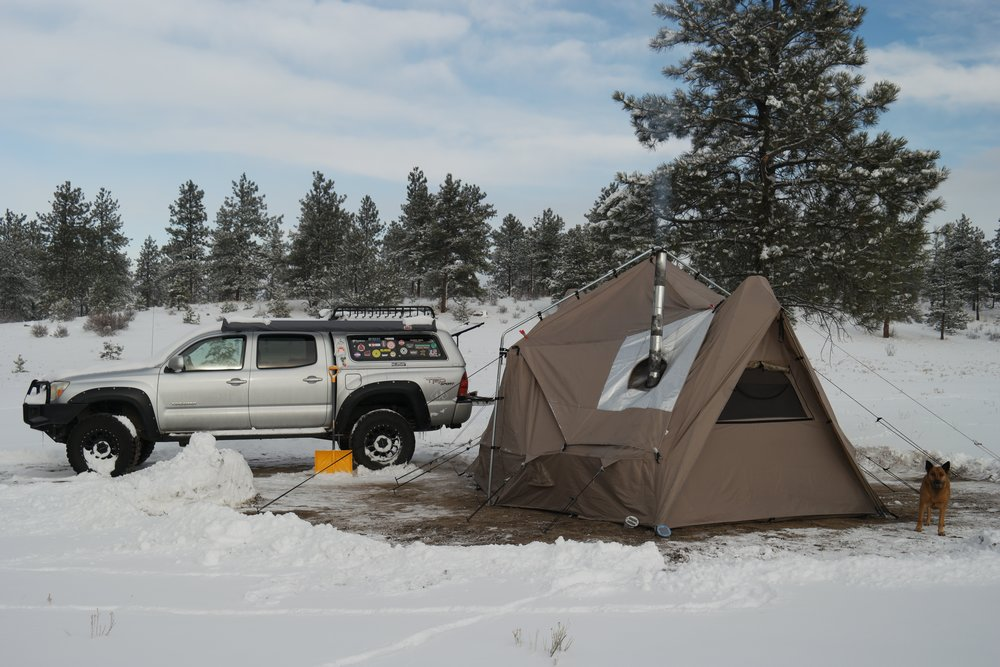 My Experience in a Four-Season Tent with a Wood Stove in the Colorado Rocky Mountains & My Experience in a Four-Season Tent with a Wood Stove in the ...
