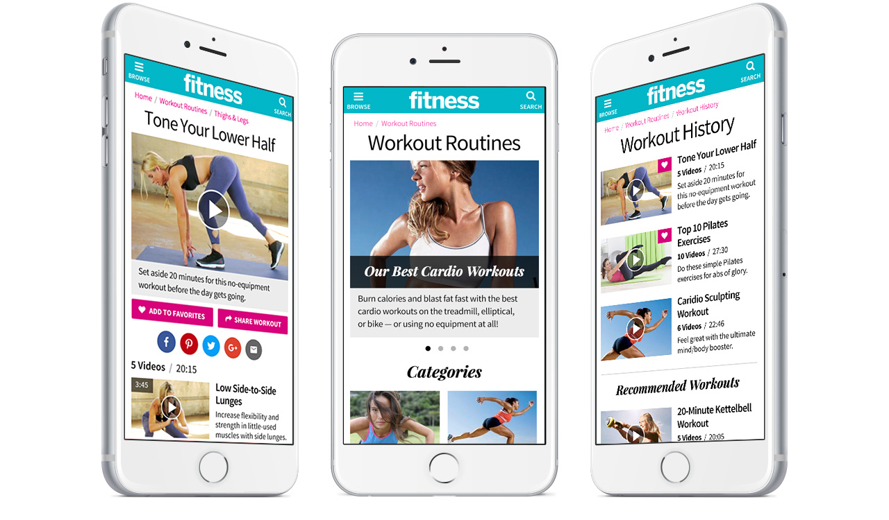 edc30c1a29c Web App  Fitness Magazine Workouts — YipYop