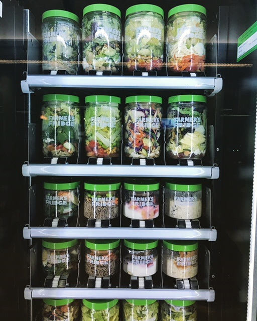 You can also find a couple of Farmer's Fridge locations at O'Hare International Airport.