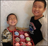 Gabriel 9 and Zachary Su 5, South Taiwan  - Gabriel and Zachary are brothers who decided that they wanted to do something to help others. They decided to make hand-made soaps to fundraise for Syrian children and to raise awareness for refugees. Within three weeks, they were able to raise over $400. With this amount, 24 food bags were bought to help the Syrian refugees! They continue to receive orders from people all over Taiwan.Source: www.kidsareheroes.org/hero/Gabriel_and_Zachary_Su