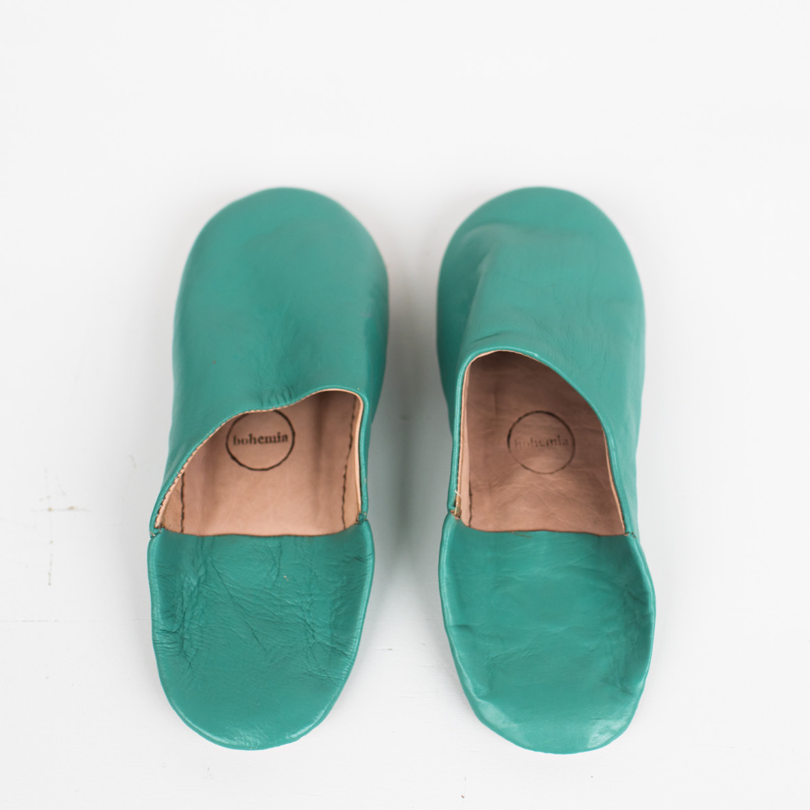 14180cb28093 Babouche Slippers - Sea Green — Design Federation
