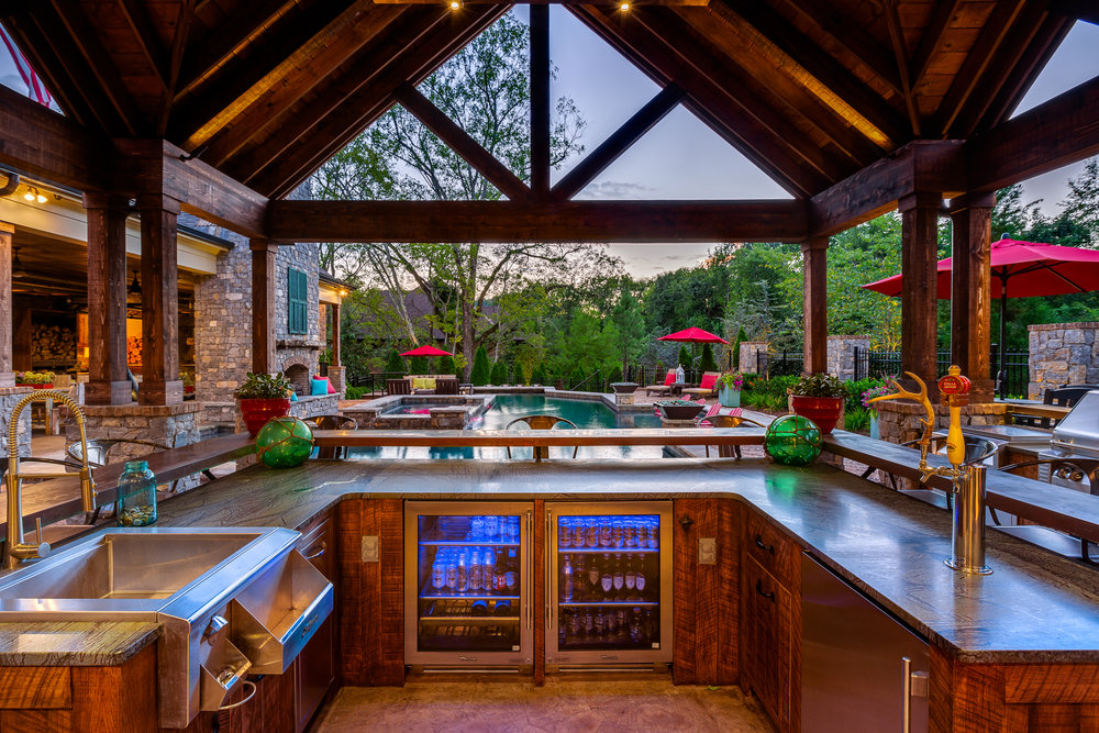 domophotos premium hdr real estate photography - Franklin, TN patio bar and pool