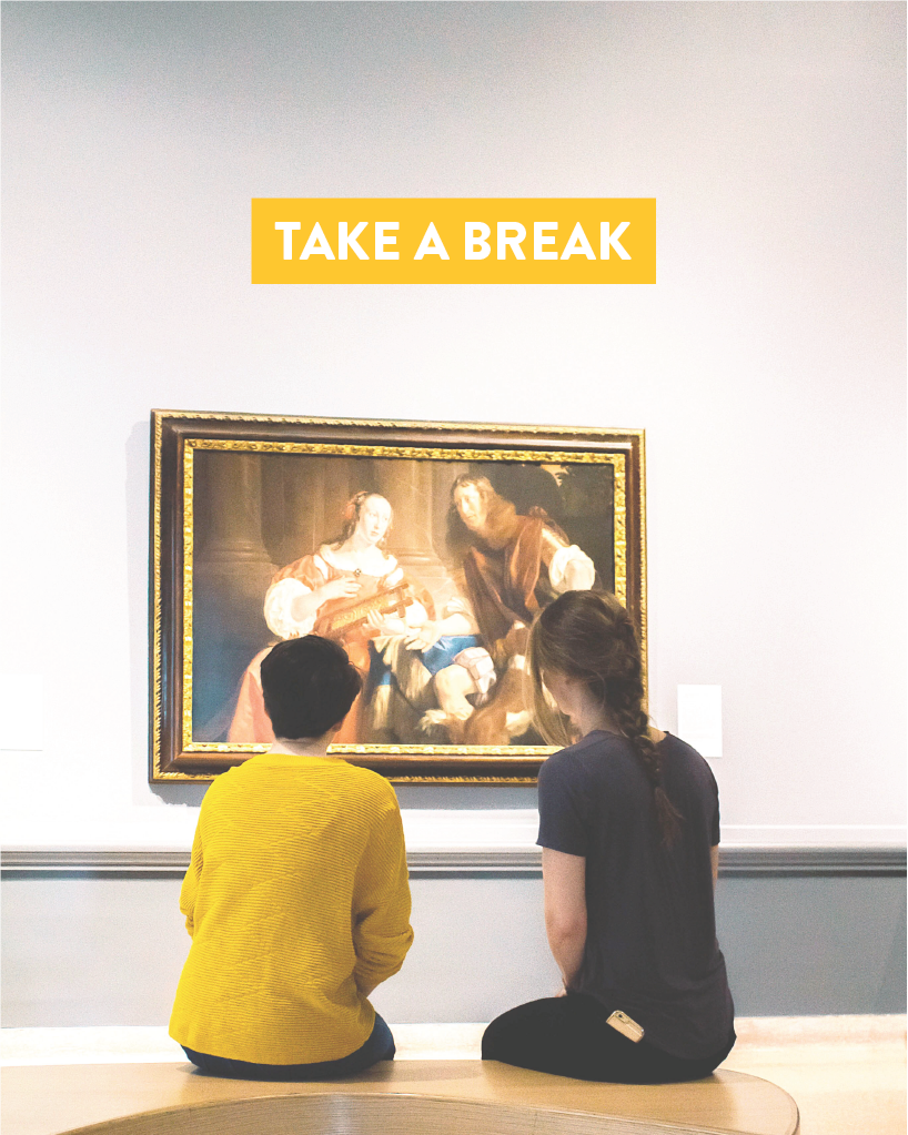 Why look at your to-do list when you could look at a masterpiece? De-stress at the Speed with drop-in tour. #BreakAtTheSpeed
