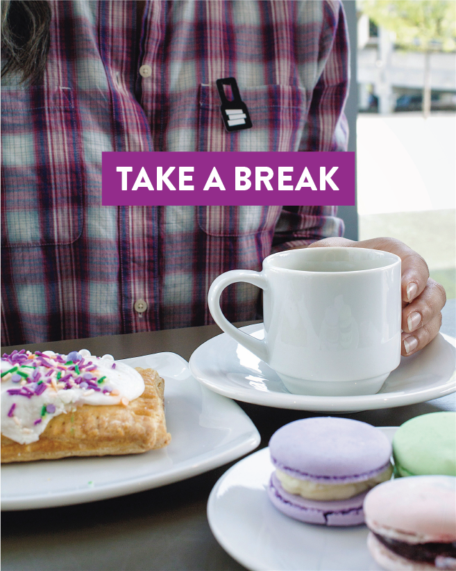 Check out the Speed: Nothing says study break like a treat or three. #BreakAtTheSpeed