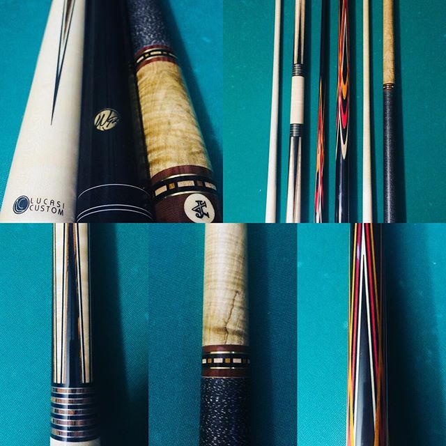 Beautiful work from @willie.blade  #williebladecues #Auerbachcues #lucasi #poolsticks #cuesports #billiards #woodworking #inlaywood #craftsmanship #wood #beautiful #art #sticks #hustle #stroke #points #exotic #pockets #rings #diamond #bca #apa #felt #inlay #collection #instroke