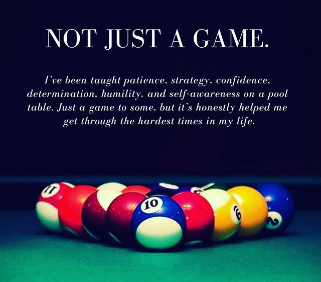 Not Just A Game #passion #therapy #mystory #billiards #pooltable #notjustagame #determination #humility #patience #strategy #confidence #selfawareness #poolplayers #poolplayer #billards #apapool #bcapoolleague #stroke #stance #concentration #sports #sport