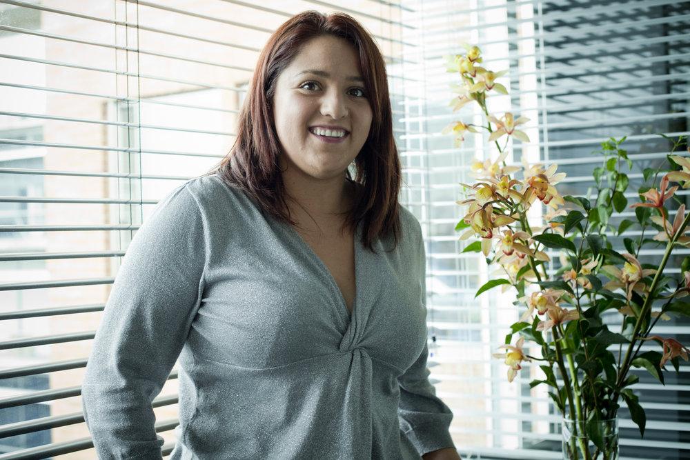 Laura Gómez Gutierrez - Laura es socia de la compañía y fue durante varios año la CFO, es soñadora, detallista con la personas y también le encantan los temas relacionados con recursos Humanos, Laura es Administradora de Empresas de la Universidad de los Andes, es Coach y actualmente vive en los Estados Unidos.