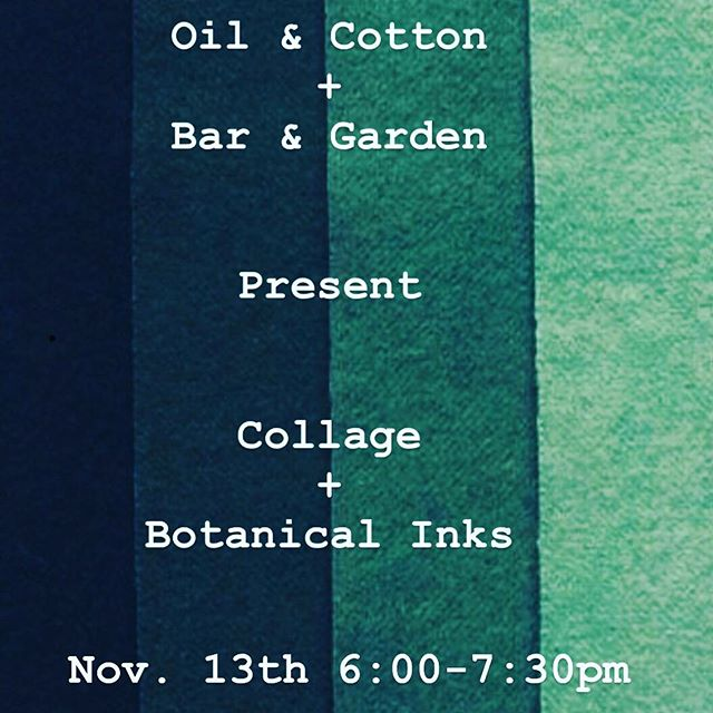 "We are combining forces with our friends @oilandcotton  Creative Exchange!  Enjoy an evening of tasting paired with collage and botanical inks. We will learn the basics of making botanical inks from natural dyes and enjoy a brief collage art history lesson. Prepped and painted sheets of watercolor paper will be ready to cut into abstract shapes! Precut shapes will be available to help beginners move forward. Each student will leave with framed and finished 4""x6"" collage inspired by the natural hues of botanical inks. The lovely @analiseminjarez will be our instructor for the evening. The class is $55. Follow the link in bio for tickets(hurry, this will sell out). Tastings are as always complimentary.  #drinkbetterfeelbetter  #artbettersleepbetter #oakcliff #nativecreative #arttherapy"