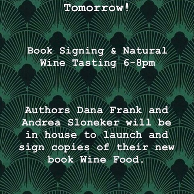 """Wine food"" is the new way to talk about wine pairing, coined by the evolving breed of wine drinker and cook who wants to discover a wider range of wines and match them to the rustic, casual, global food they love to eat. In Wine Food, natural wine bar and winery owner Dana Frank partners with author and stylist Andrea Slonecker to deliver 75 recipes for brunches, salads, vegetable dishes, picnics, weeknight dinners, and feasts with friends, all inspired by delicious, affordable wines that go with them beautifully. @danabeafrank @andreaslonecker @bowampersandarrow"