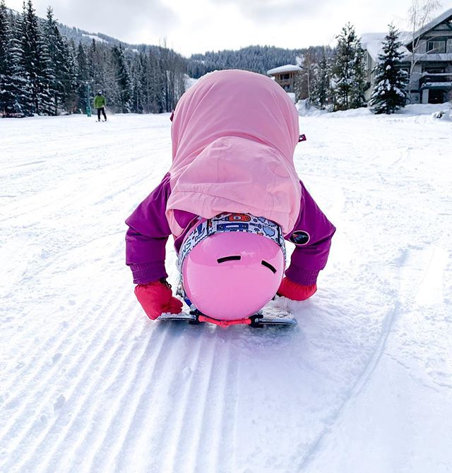 I miss this sassy little two year old ripper. How is she two already?! This was her last day skiing as a one year old and she's absolutely killing it! When Miss Mila Marie Soleil is not skiing she enjoys playing with her belly button, shouting until she gets picked up and doing E V E R Y T H I N G  her big bro does. So much love for my two Little's.