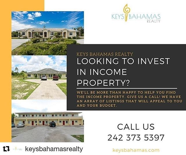Call or text me to invest in income properties today at 242-727-2599 !  Passive income is the best income 😊  #Repost @keysbahamasrealty (@get_repost) ・・・ Looking to invest in income property? We have an array of income listings that may interest you. Give us a call today: 242 373 5397  http://ow.ly/uUaf30lzwCN