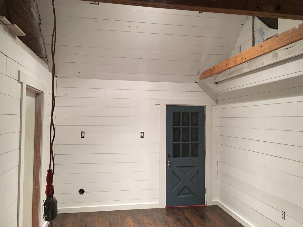 Our back door and bedroom door to the side.