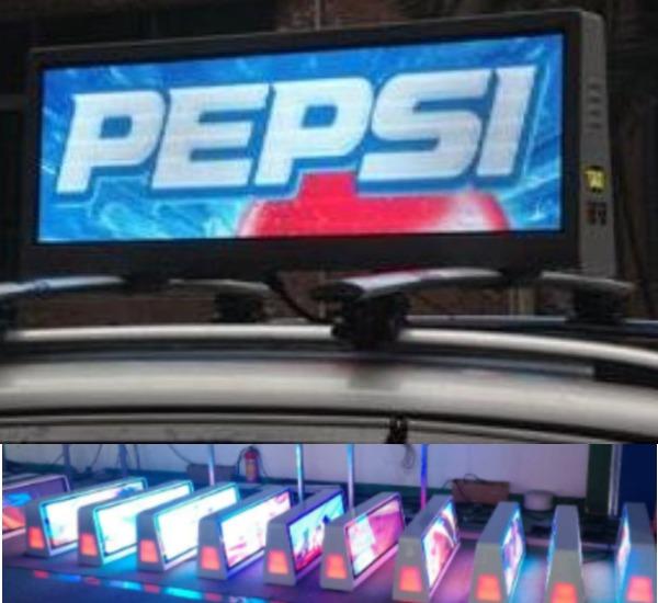 Vehicle Top Advertising Displays