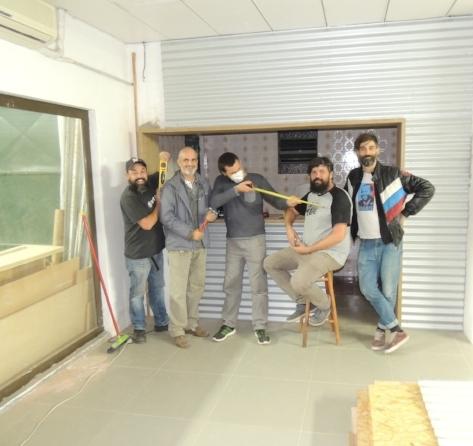 Gestores do Galpão Makers, da esq. para a dir.: Rafael Dutra, Alexandre Fagundes, Samuel Biron,Fábio Schmidt e Lucas Busato