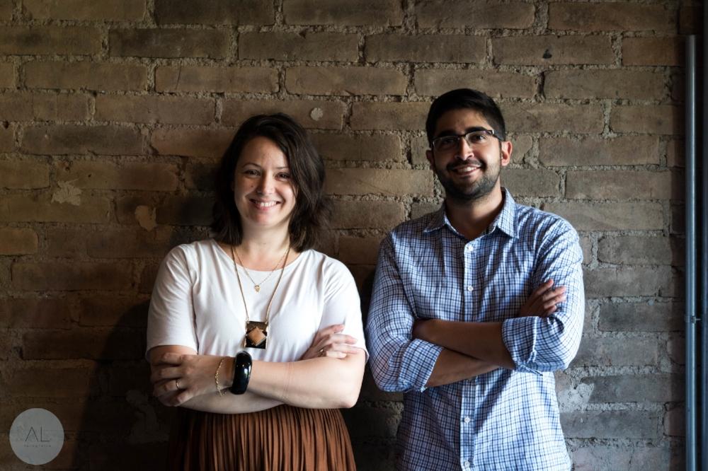 Crislaine Araújo e Rafael Veloso Lima, sócios da TRACE – Estratégias em Arquitetura (Foto Amanda Leal)