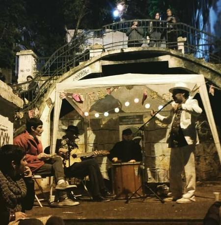 """Rodas de samba na """"concha acústica"""" ajudam a revitalizar a área histórica"""