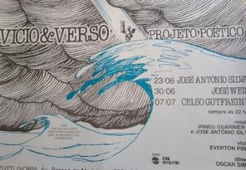 Cartaz de Edgar Vasques para sarau  Vício e Verso , de 1991