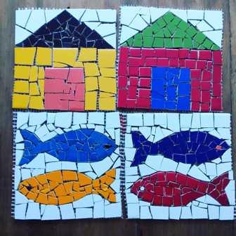 Oficina de mosaico de Márcia Barboza (Foto/Divulgação)