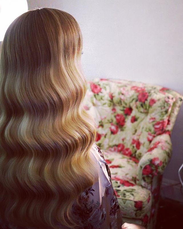 Waves 🌹  #wavey #hairstyles #weddinghair #vintagehair #hairstylist
