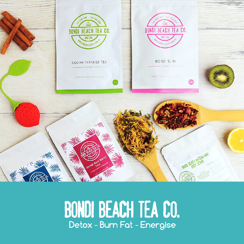 100% organic, preservative free and laxative free detoxing and weight loss teas! Hand blended with natural ingredients.  40% off all teas at Bondi Beach Teas