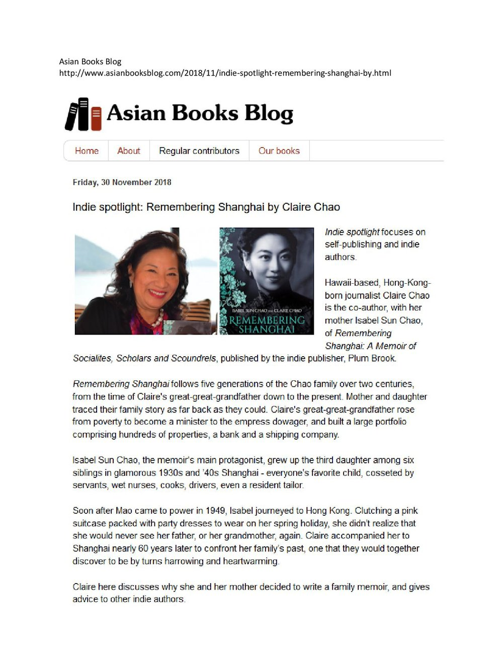 Asian Books Blog, November 2019