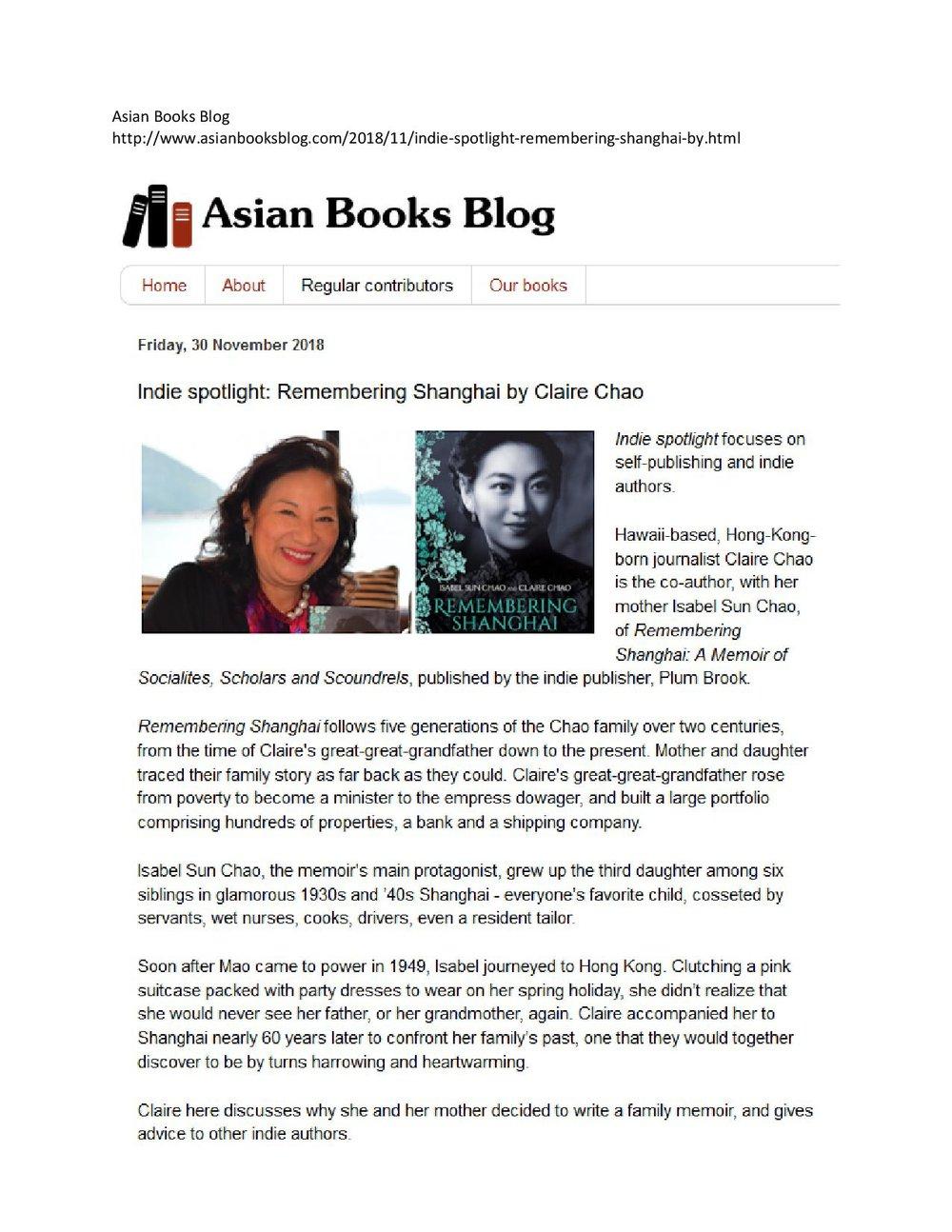 Asian Books Blog, November 2019