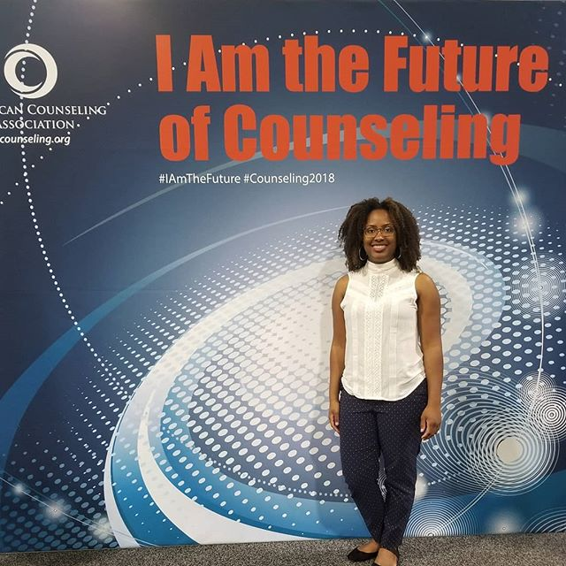 My first time at the ACA Conference was a success. #counseling2018  I am the future of counseling!
