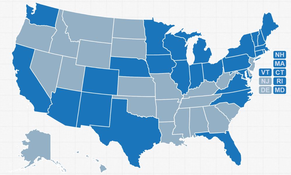 SNAP Endorsement Map