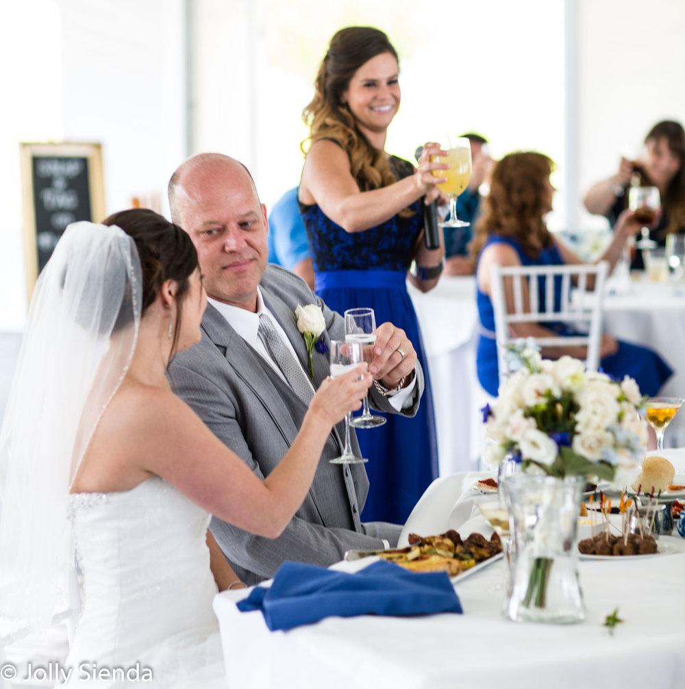 Bridal toast wedding photography