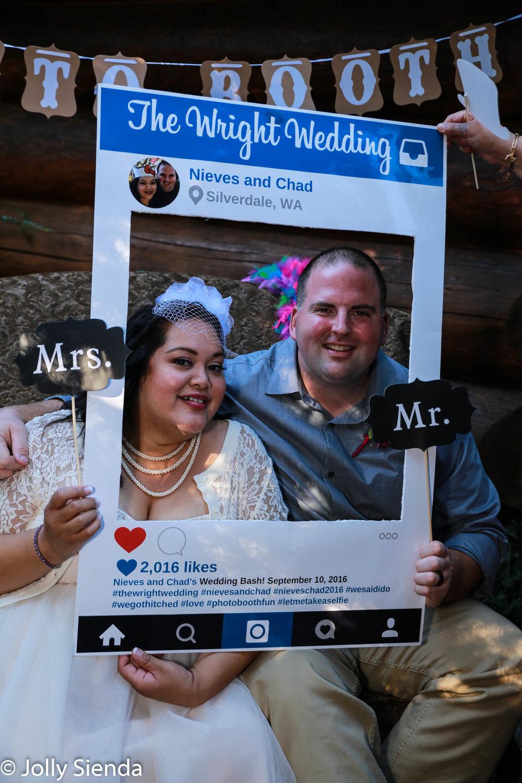 Nieves and Chad, Wright Wedding, Social Media, photo booth weddi