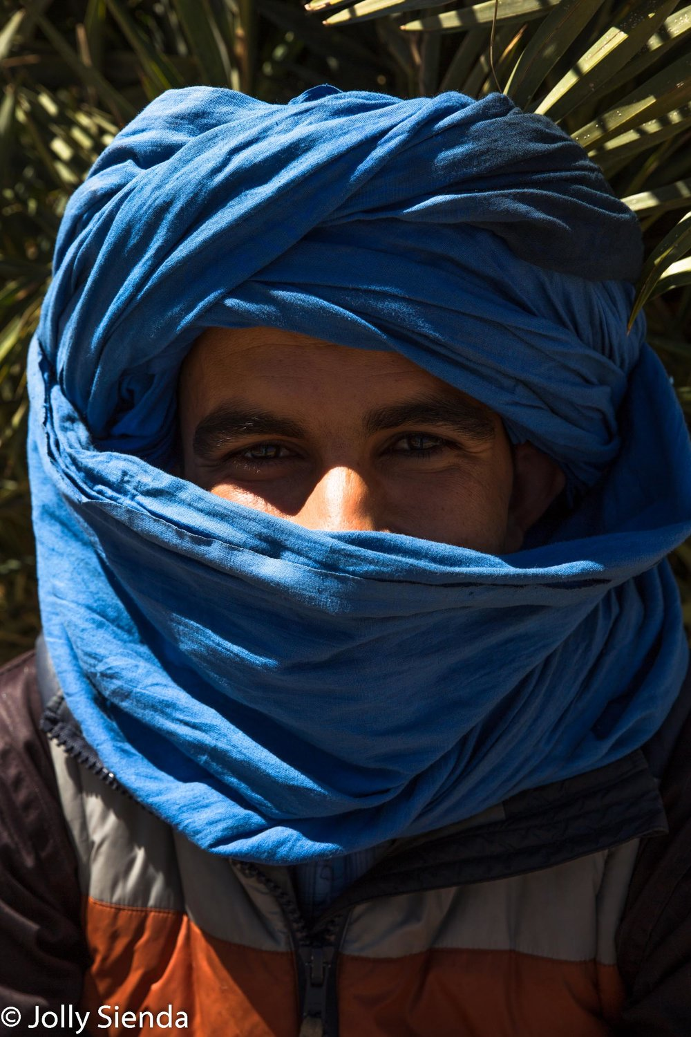 Young Berber man in the blue turban