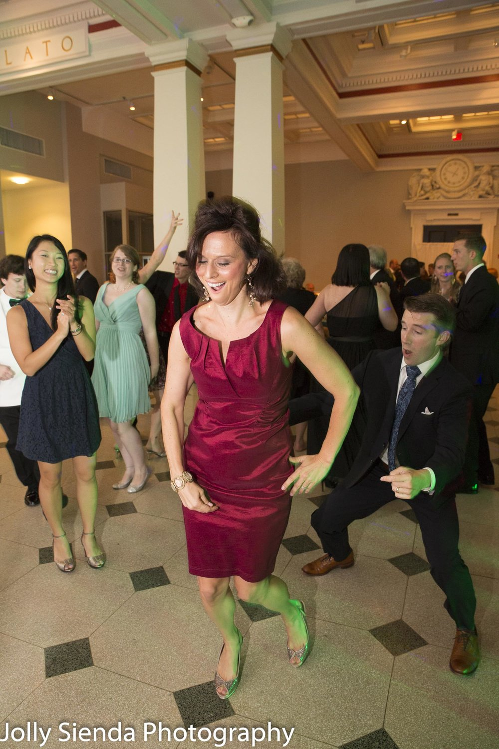 Crazy dancing at a wedding, wedding photography