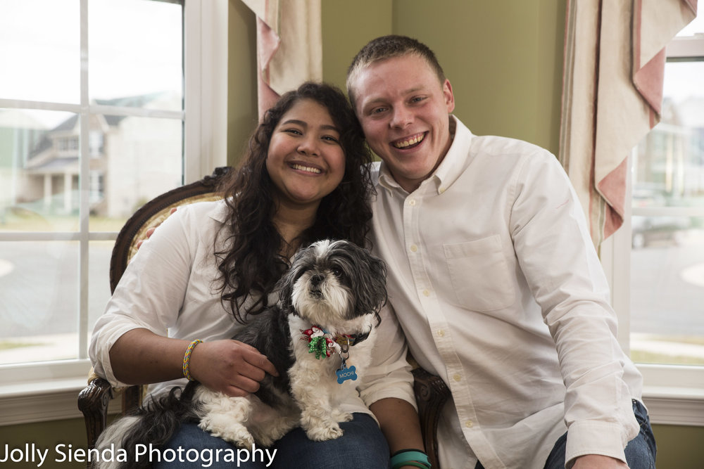 Family Portrait and Family Pet Photography at your home.