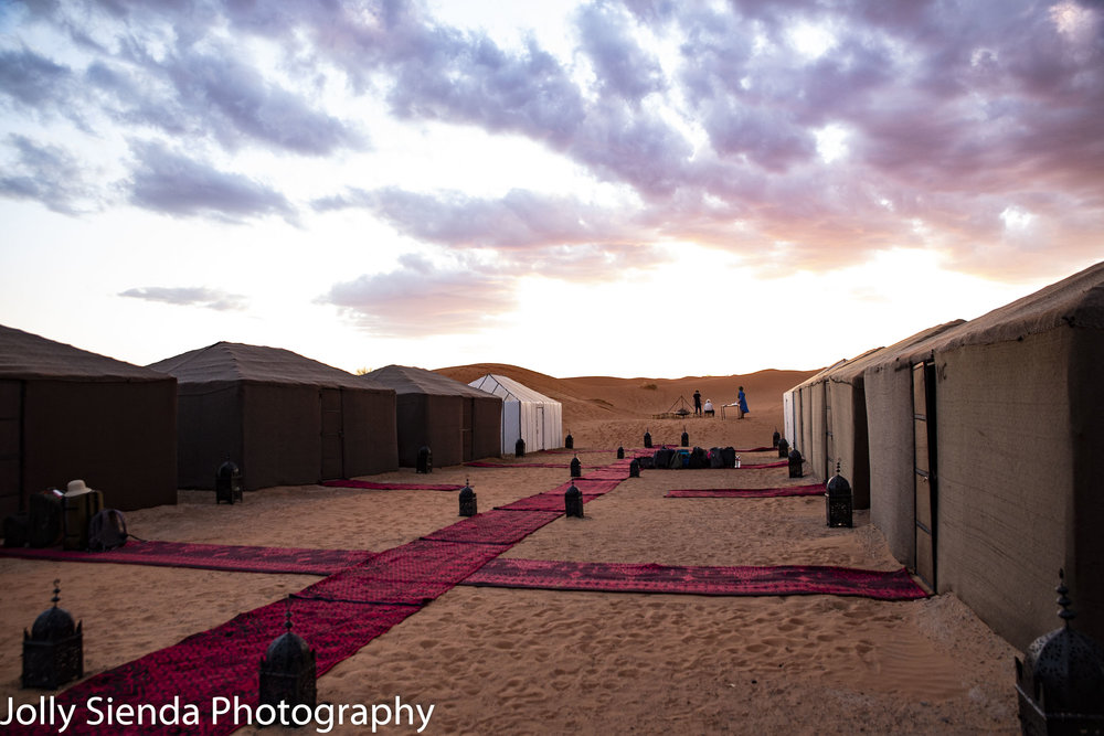 Luxury camp in the desert