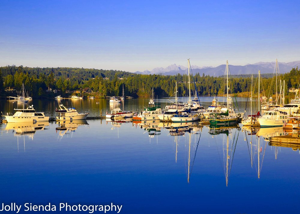 Port Ludlow Marina and an August Morning Sunrise