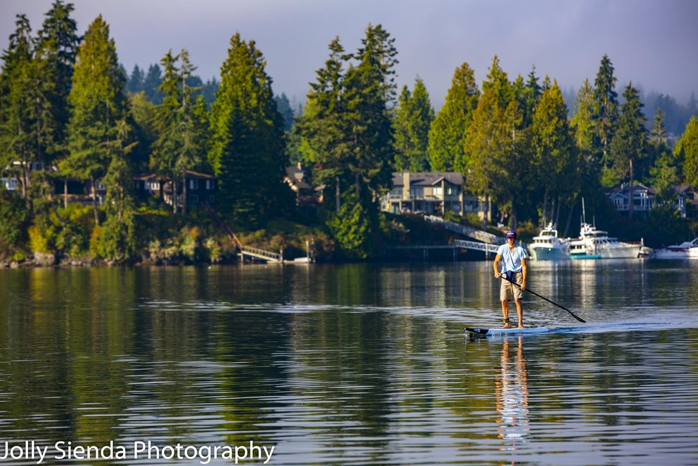 Paddle Boarder at Hood Canal
