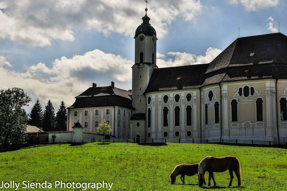 The Pilgrim Church, Weis Kirche (White Church), in Bavaria on a