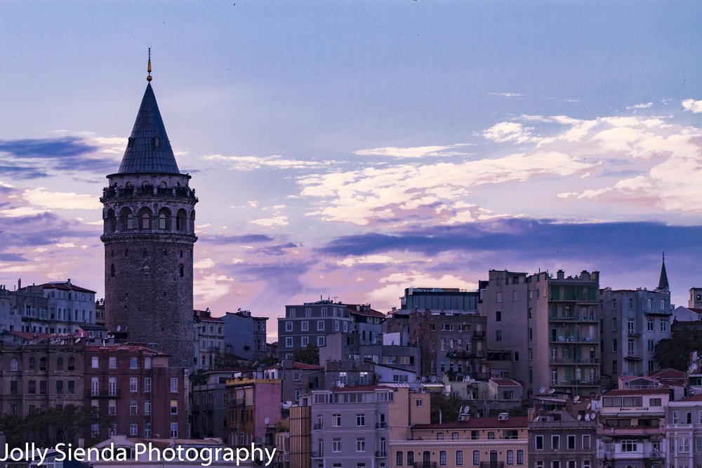 Galata Tower and the sunset